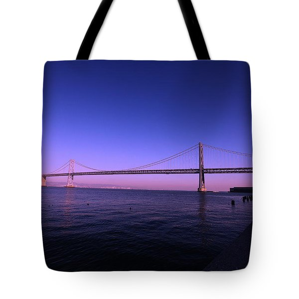 An Evening In San Francisco  Tote Bag by Linda Edgecomb