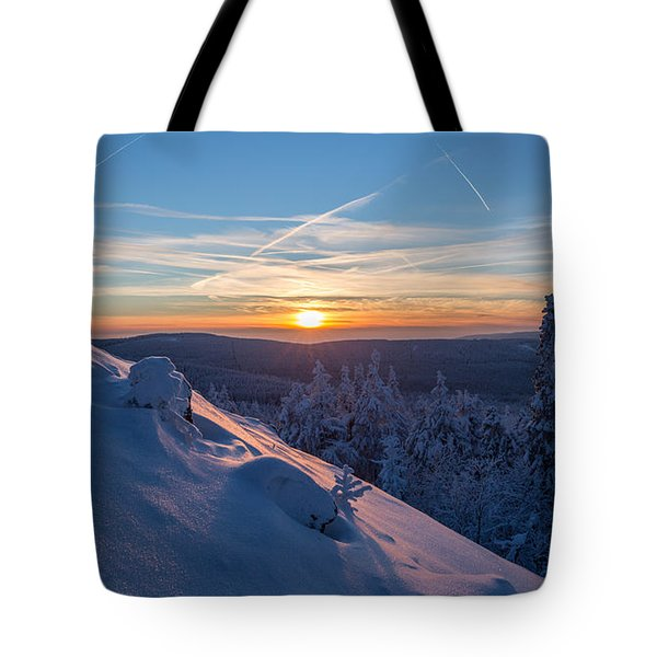 an evening on the Achtermann, Harz Tote Bag