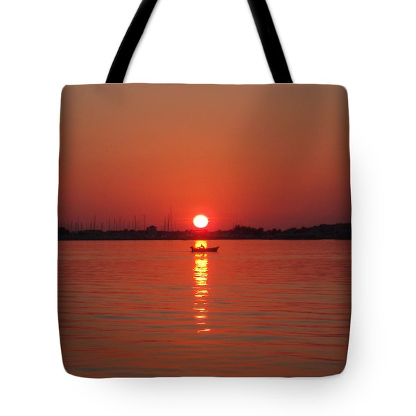 An Evening Row Tote Bag