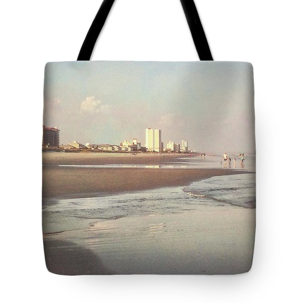 An Evening Walking The Grand Strand Tote Bag
