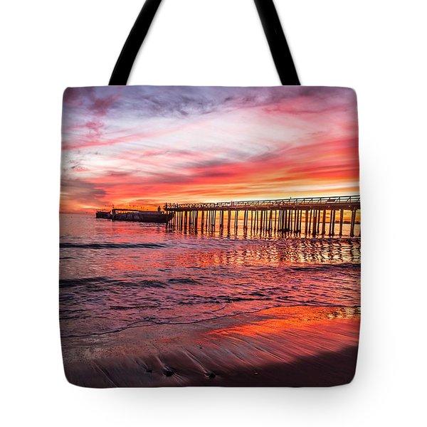 Seacliff Sunset Tote Bag