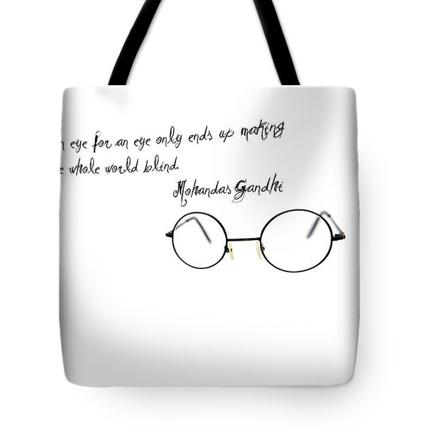An Eye For An Eye Tote Bag by Bill Cannon