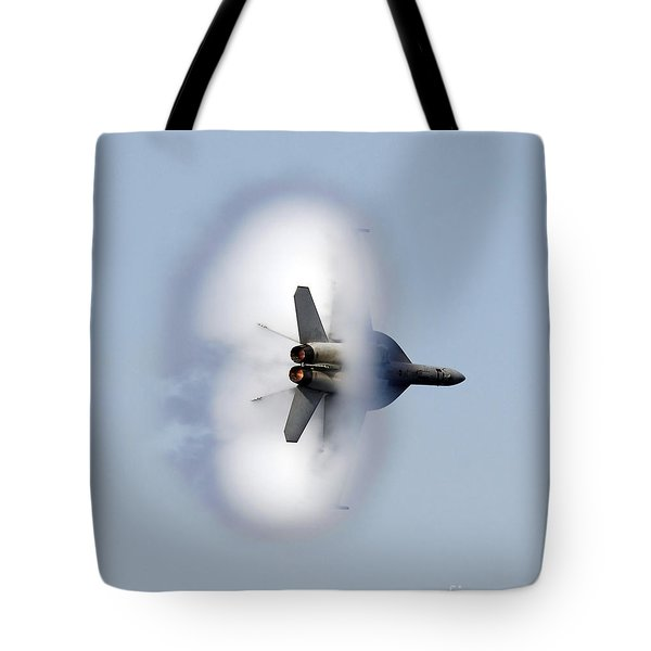 An Fa-18f Super Hornet Completes Tote Bag by Stocktrek Images