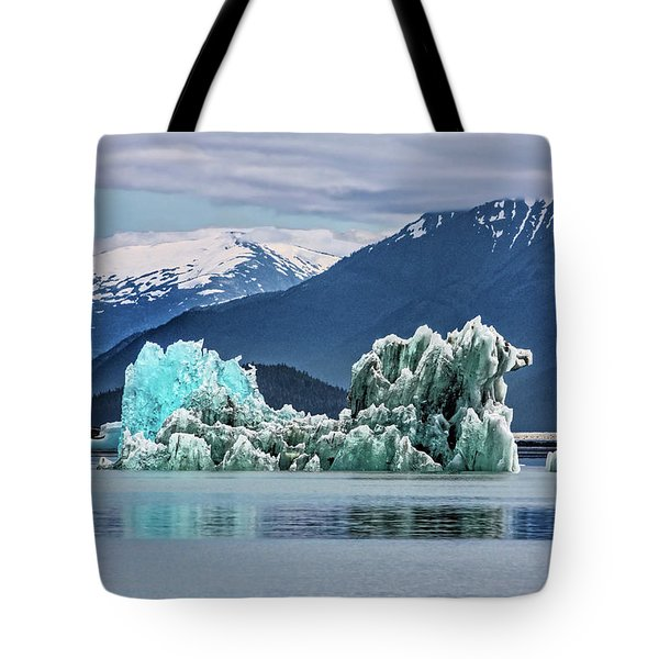 An Iceberg In The Inside Passage Of Alaska Tote Bag