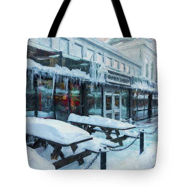 An Icy Quincy Market Tote Bag