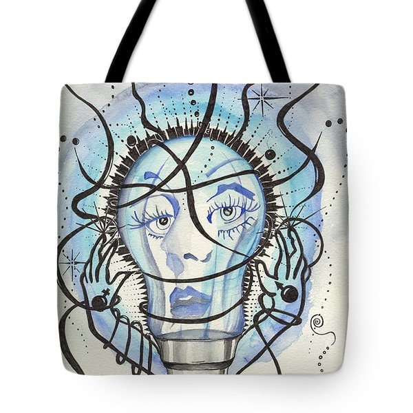 Tote Bag featuring the digital art An Idea by Darren Cannell