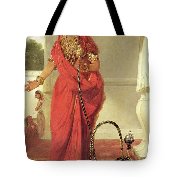 An Indian Dancing Girl With A Hookah Tote Bag