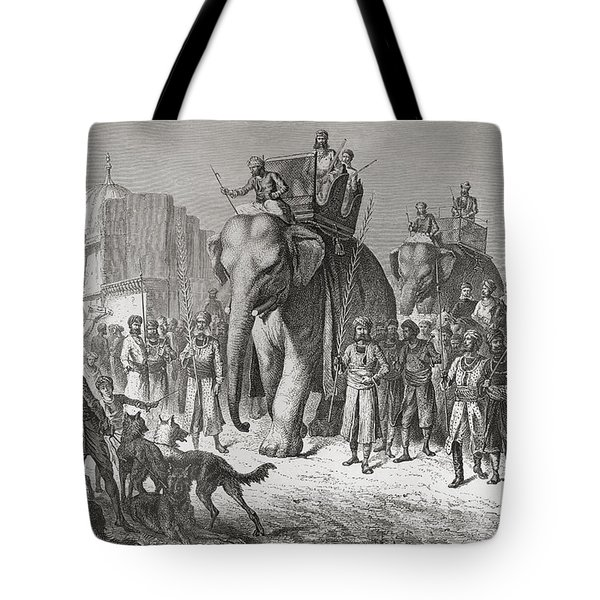 An Indian Hunting Party Riding Tote Bag