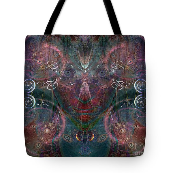 Tote Bag featuring the digital art Infinite Correlation by Rhonda Strickland