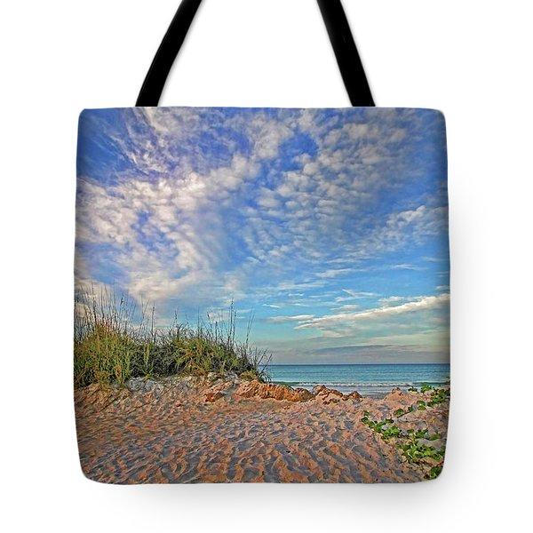 An Invitation - Florida Seascape Tote Bag