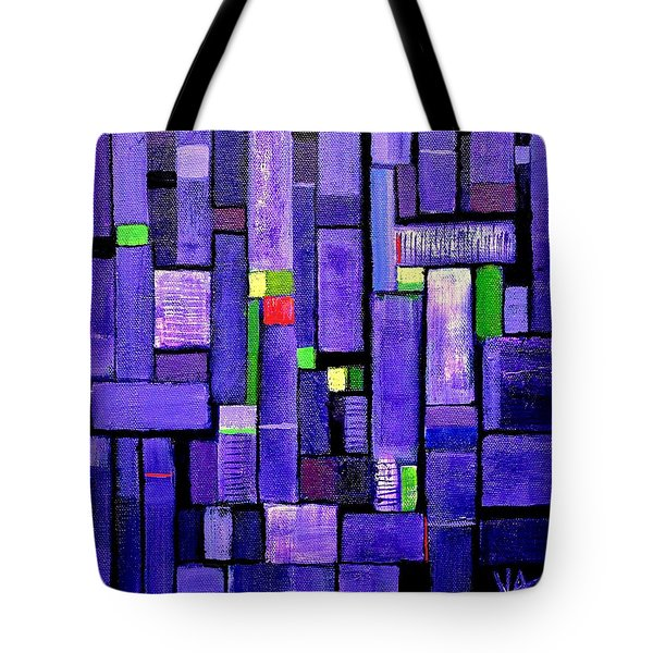 Tote Bag featuring the painting An Iris For The Master by VIVA Anderson