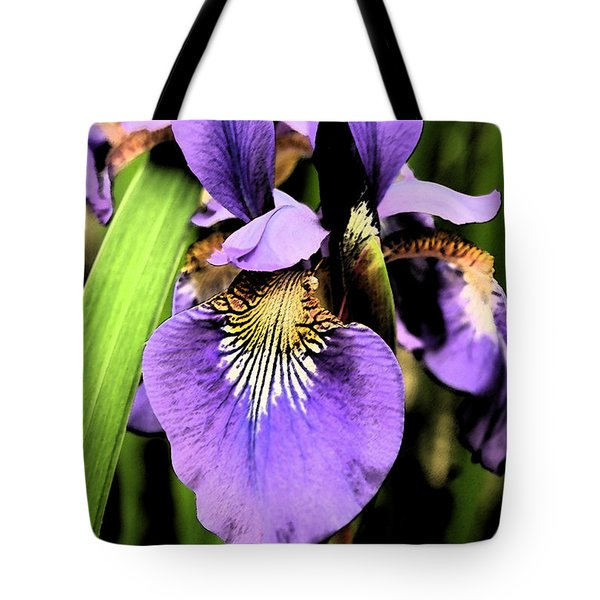 An Iris Portrait - Botanical Tote Bag