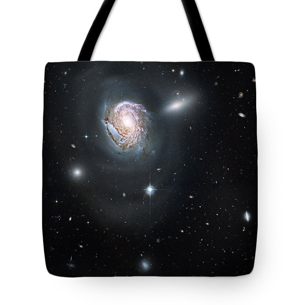 Tote Bag featuring the photograph An Island Universe In The Coma Cluster by Nasa