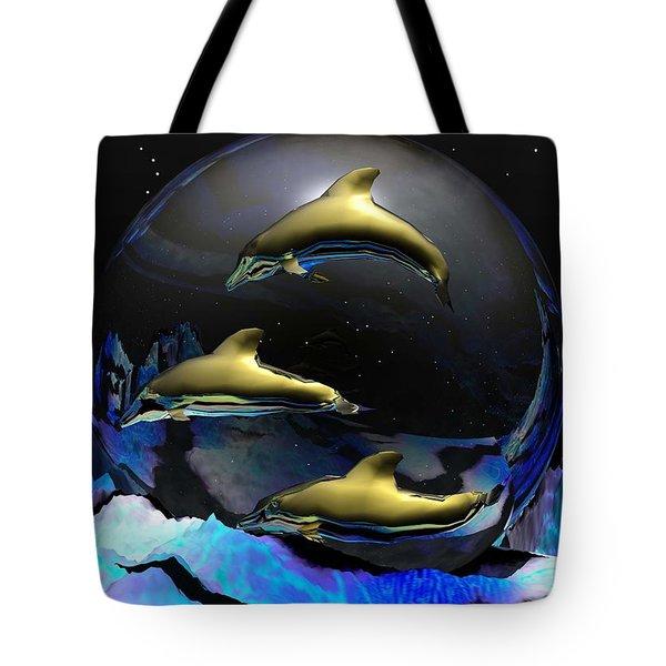 An Ocean Full Of Tears Tote Bag by Robert Orinski