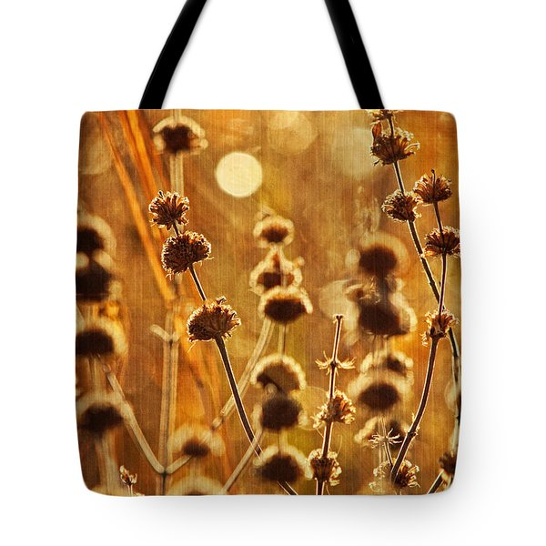 An October Morning Text Tote Bag