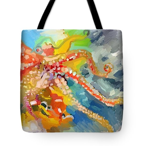 An Octopus Lunch Inspired This Painting Of An Octopus  Tote Bag