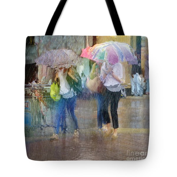 Tote Bag featuring the photograph An Odd Sharp Shower by LemonArt Photography