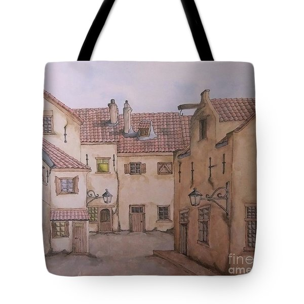 Tote Bag featuring the painting An Ode To Charles Dickens  by Annemeet Hasidi- van der Leij