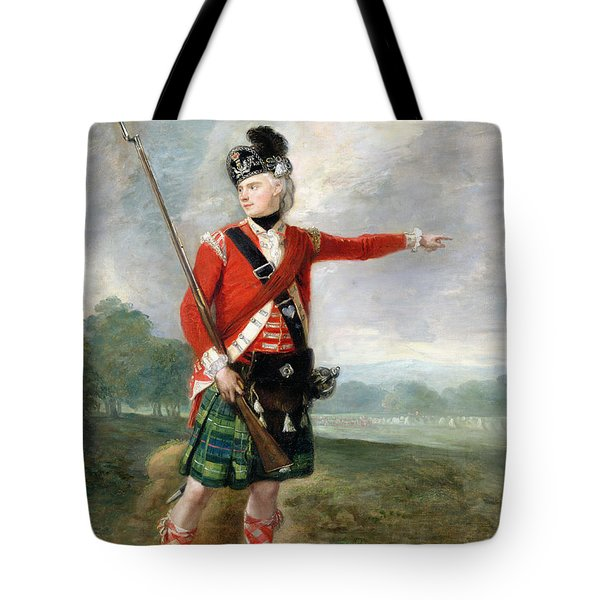 An Officer Of The Light Company Of The 73rd Highlanders Tote Bag by Scottish School
