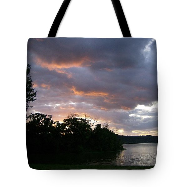 Tote Bag featuring the photograph An Ohio River Valley Sunrise by Skyler Tipton