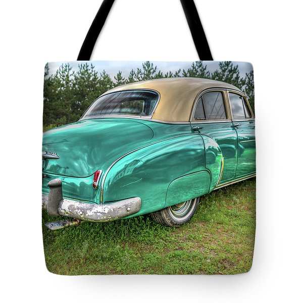 Tote Bag featuring the photograph An Old Chevy By The Road In Rural Maine by Guy Whiteley