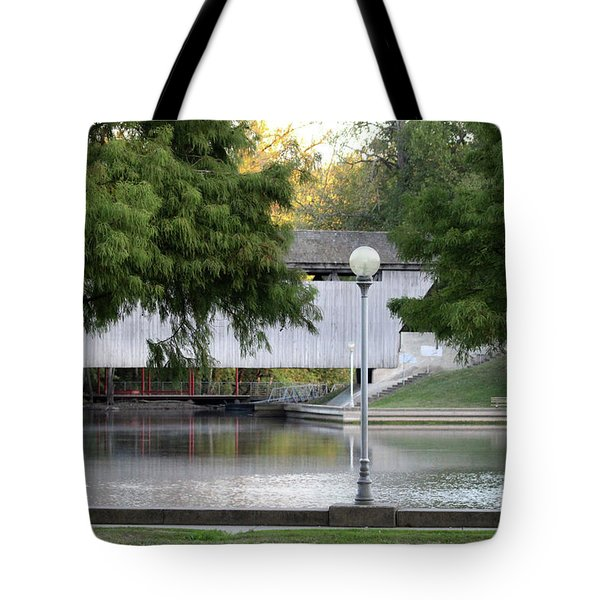 An Old Covered Bridge - Columbus Indiana Tote Bag