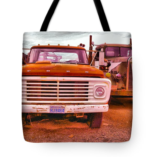 An Old Ford And Kenworth Tote Bag