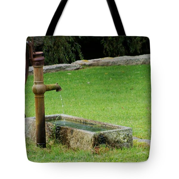 An Old Hand Pump In Plymouth,mass Tote Bag by Rod Jellison