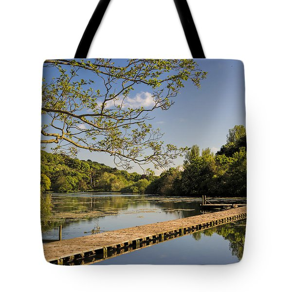 An Old Jetty Tote Bag by David  Hollingworth
