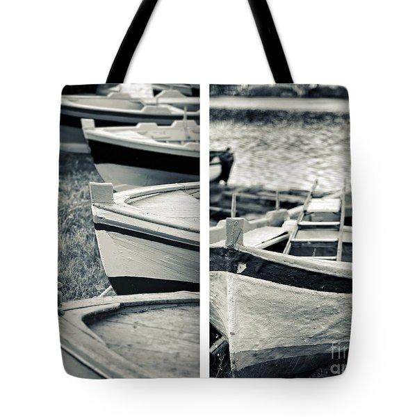 An Old Man's Boats Tote Bag by Silvia Ganora