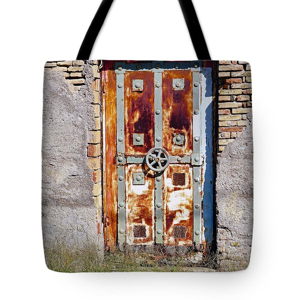 An Old Rusty Door In Katakolon Greece Tote Bag