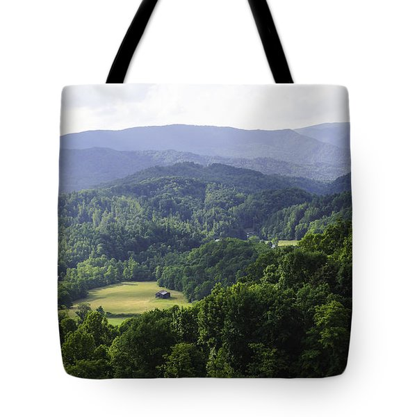 An Old Shack Hidden Away In The Blue Ridge Mountains Tote Bag