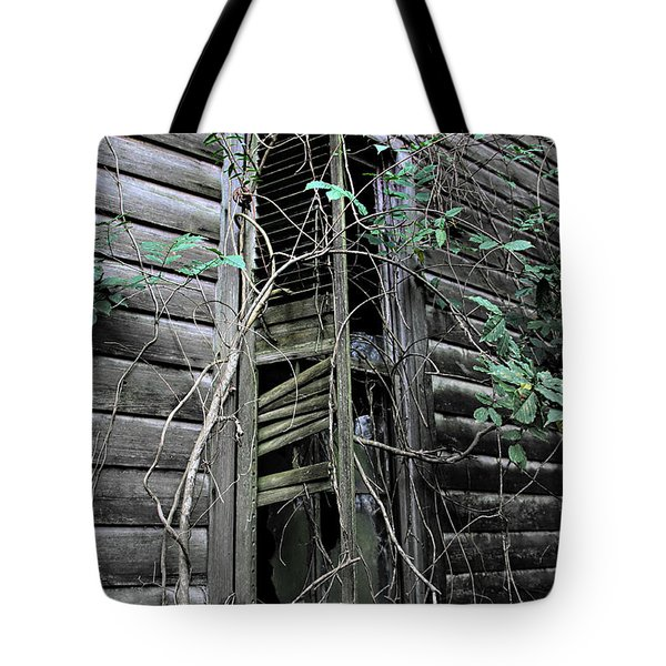 An Old Shuttered Window Tote Bag