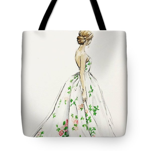 Dressed In White And Roses Tote Bag