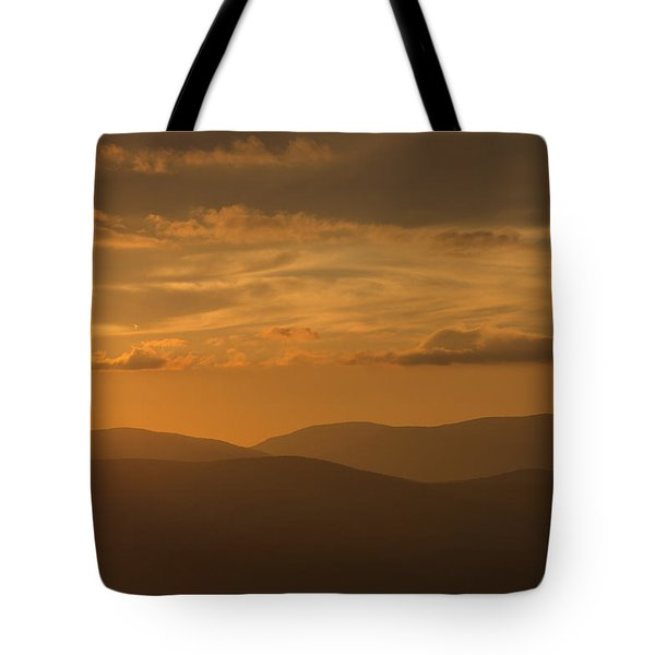 An Orange Vermont Sunset Tote Bag
