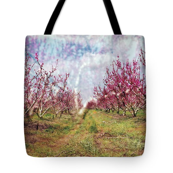 An Orchard In Blossom In The Golan Heights Tote Bag