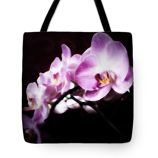 Tote Bag featuring the mixed media An Orchid For You by Gabriella Weninger - David