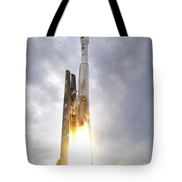 An United Launch Alliance Atlas V Tote Bag