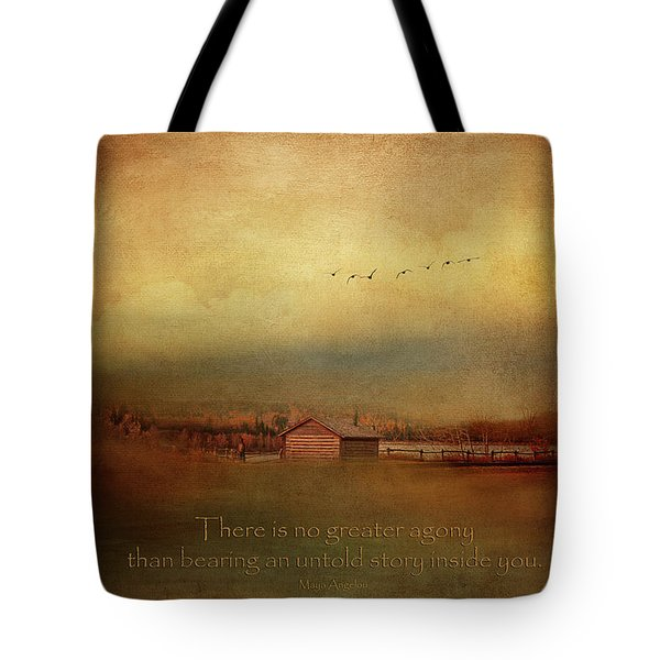 An Untold Story - Maya Angelou Quotes Tote Bag