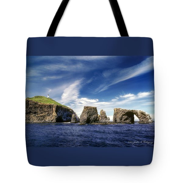 Channel Islands National Park - Anacapa Island Tote Bag by John A Rodriguez