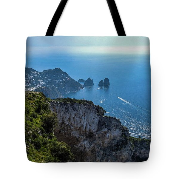 Anacapri On Isle Of Capri Tote Bag
