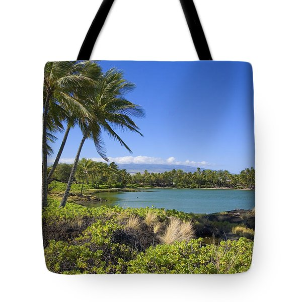 Anaehoomalu Bay Tote Bag by Ron Dahlquist - Printscapes