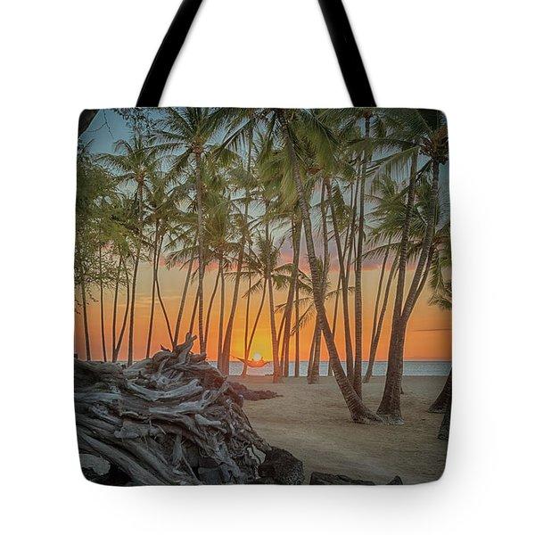 Anaehoomalu Beach Sunset Tote Bag
