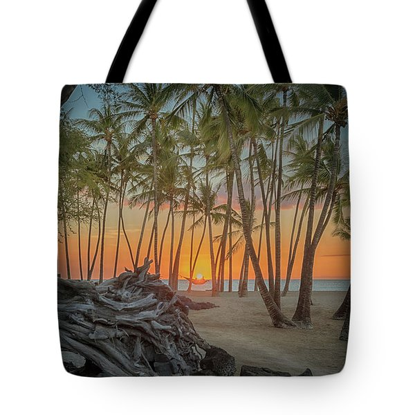 Anaehoomalu Beach Sunset Tote Bag