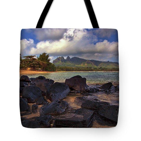Tote Bag featuring the photograph Anahola Beach Park On The Island Of Kauai, Hawaii by Sam Antonio Photography