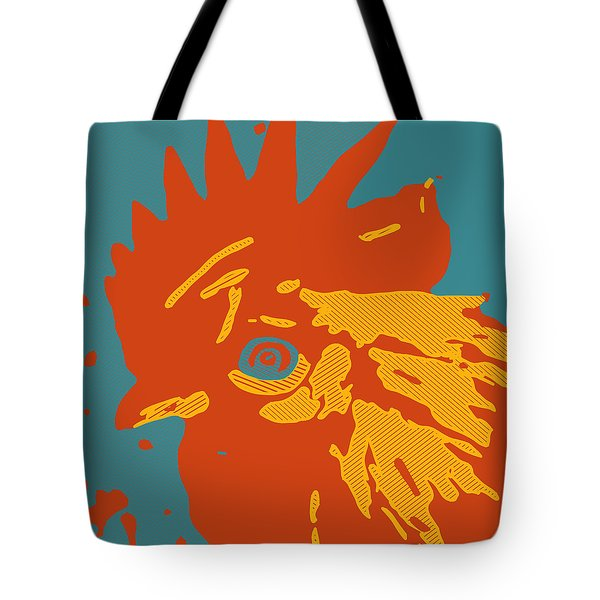 Analog Rooster Rocks Tote Bag