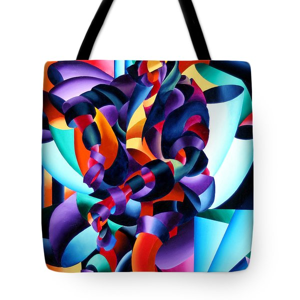 Anamorphosis From The Outside In Tote Bag