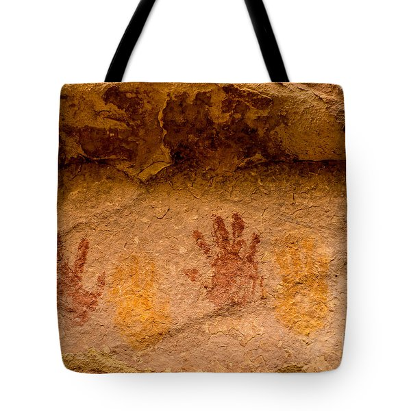 Anasazi Painted Handprints - Utah Tote Bag