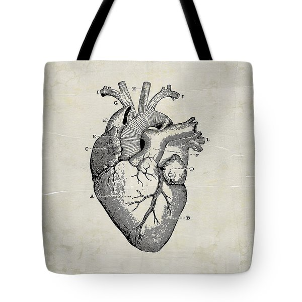 Anatomical Heart Medical Art Tote Bag