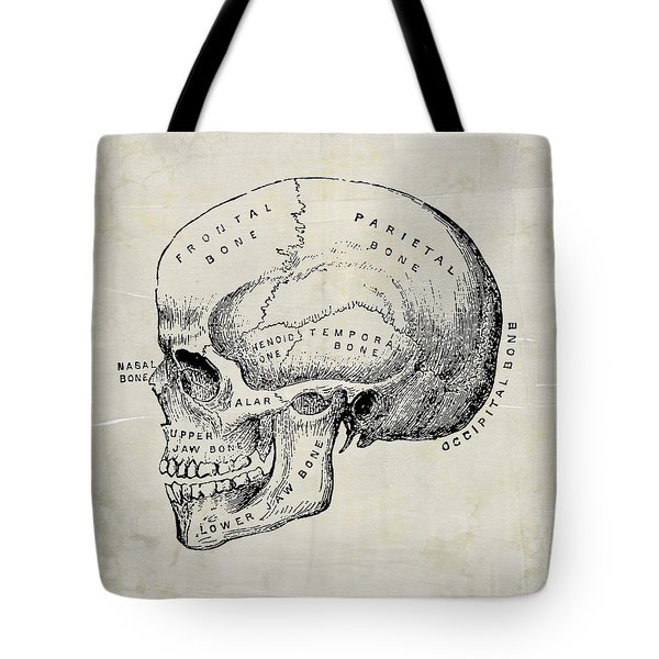 Anatomical Skull Medical Art Tote Bag